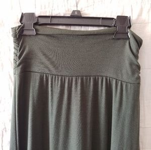 Joe B Olive Green Maxi Skirt